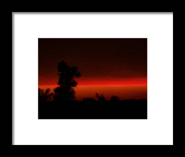 Sunsets Framed Print featuring the digital art Laser Beam by Wide Awake Arts