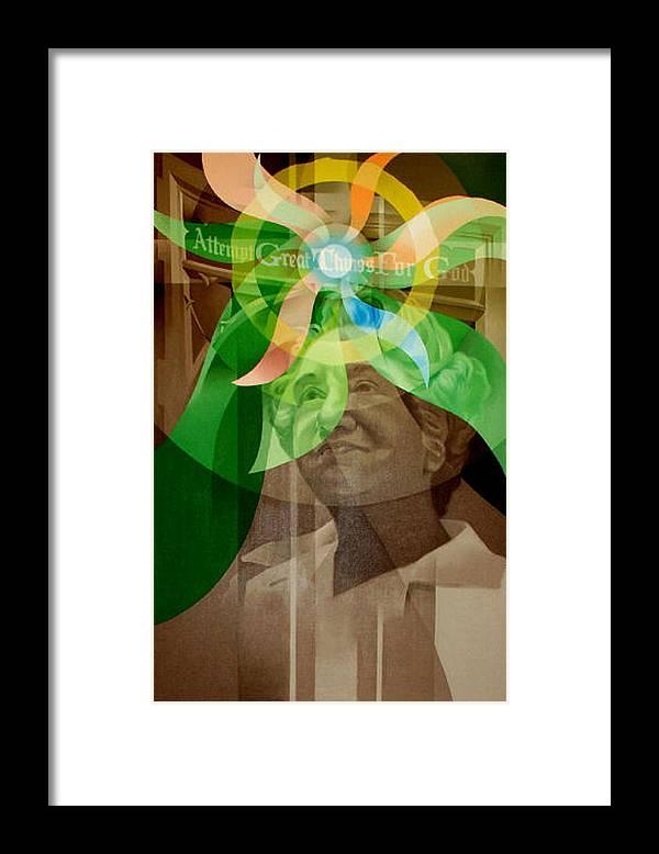 Virginia Laskey Framed Print featuring the painting Laskey Portrait 1972 B by Glenn Bautista