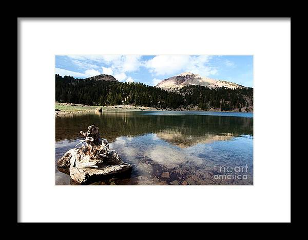 Lassen Volcanic National Park Framed Print featuring the photograph Lassen Mountain Lakes by Adam Jewell