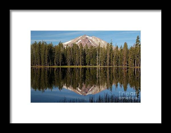 Summit Lake Framed Print featuring the photograph Lassen Peak Reflections by Adam Jewell