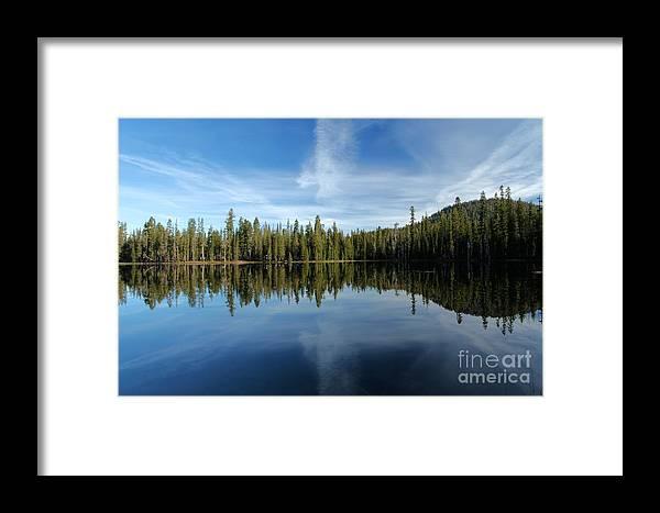 Summit Lake Framed Print featuring the photograph Lassen Summit Lake Reflections by Adam Jewell