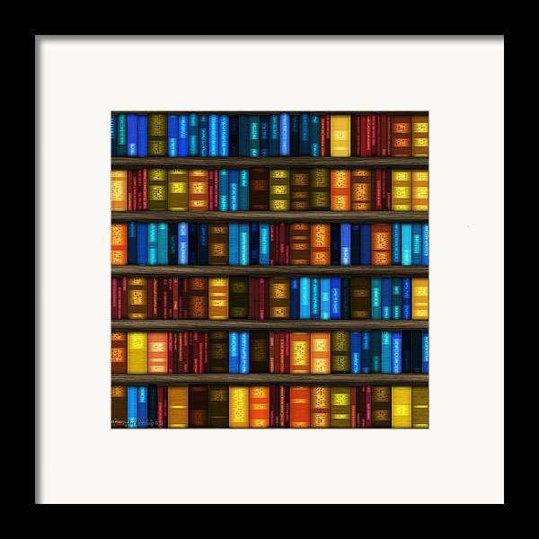 Bookseller's Framed Print featuring the digital art Last Bookseller's Life Story. by Tautvydas Davainis