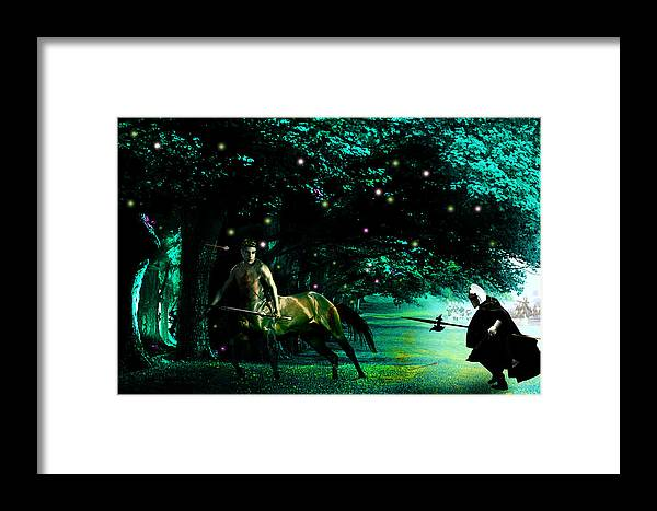Fantasy Framed Print featuring the digital art Last Chance by Russell Clenney