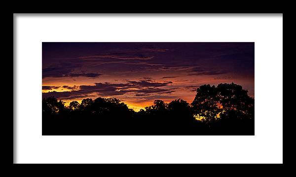 Sunset Framed Print featuring the photograph Last Day by Simone Pastore
