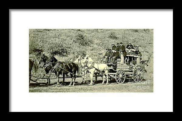 Last Deadwood Coach 1890 Framed Print featuring the photograph Last Deadwood Coach 1890 by Padre Art