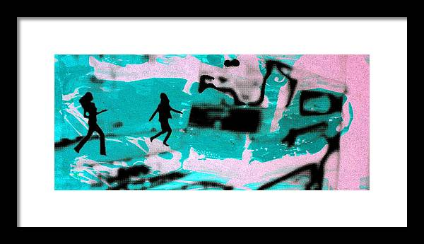 Serigraph Framed Print featuring the photograph Last minute - Digital art neon colors by Arte Venezia