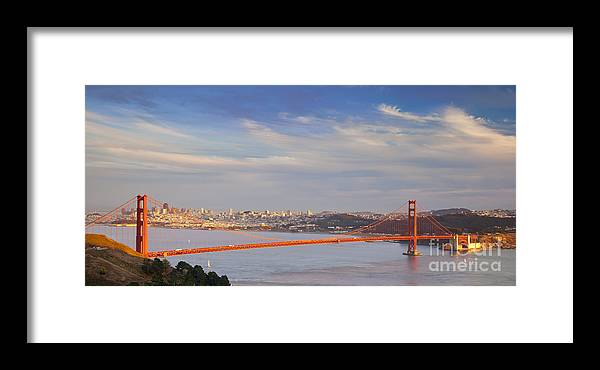 Golden Framed Print featuring the photograph Late Evening Over San Francisco by Brian Jannsen