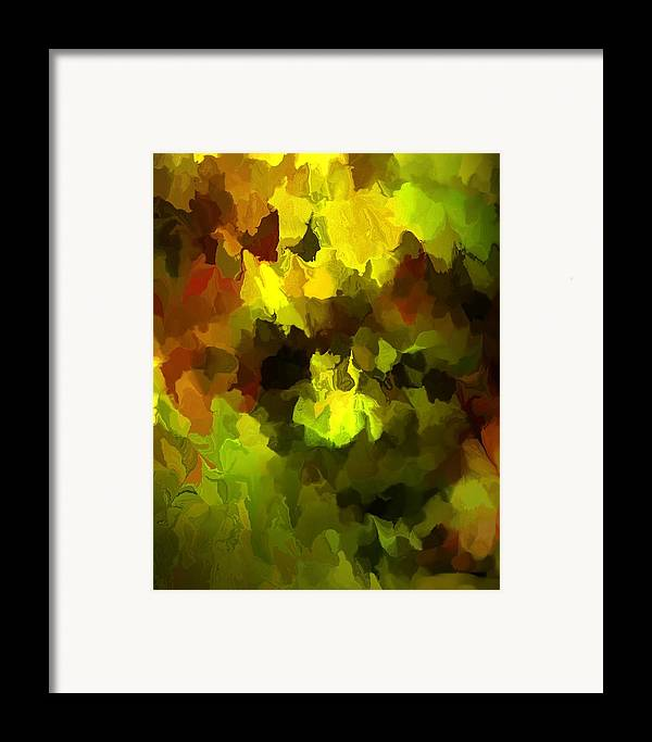 Fine Art Framed Print featuring the digital art Late Summer Nature Abstract by David Lane