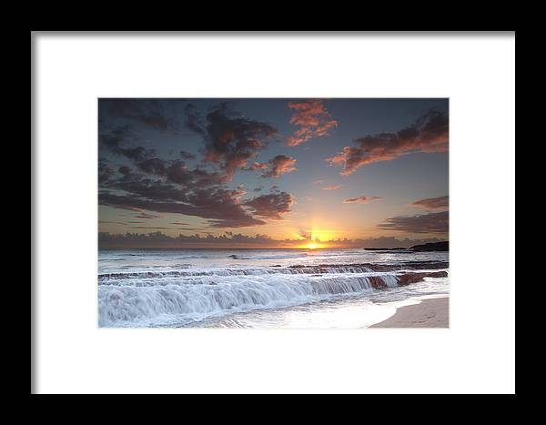 Kauai Framed Print featuring the photograph Lava Shelf Waterfall by Roger Mullenhour