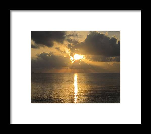 Lavaca Bay Framed Print featuring the photograph Lavaca Bay Sunrise by Lawrence Scott