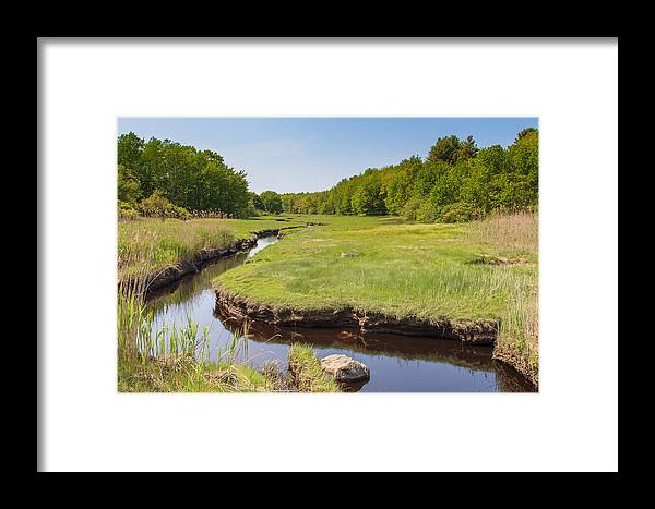 Landscapes Framed Print featuring the photograph Lazy Summer Creek by Marx Broszio