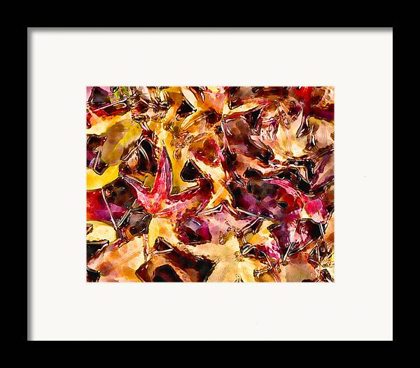 Glass Framed Print featuring the digital art Leaves Of Glass by Marilyn Sholin