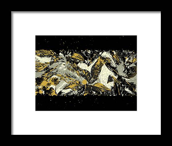 Leaf Framed Print featuring the photograph Leaves Of Gold by Katharine Birkett