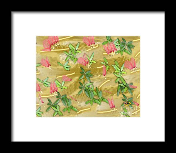 Digital Painting Framed Print featuring the digital art Leaves by Rod Seeley