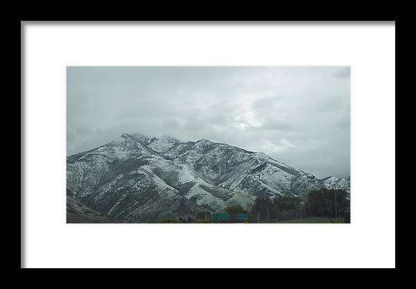 Landscape Framed Print featuring the photograph Leaving Salt Lake City by Terrilee Walton-Smith