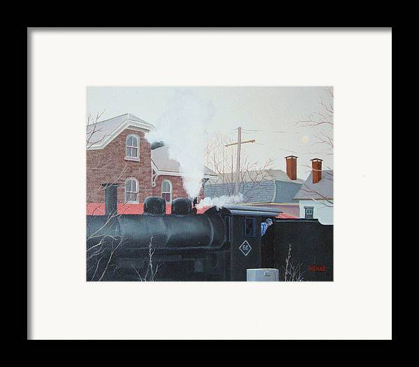 Lambertville Framed Print featuring the painting Leaving The Station by Robert Henne
