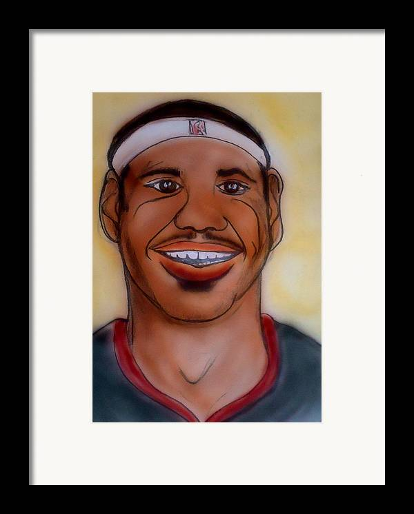 Lebron James Framed Print featuring the painting Lebron James by Pete Maier