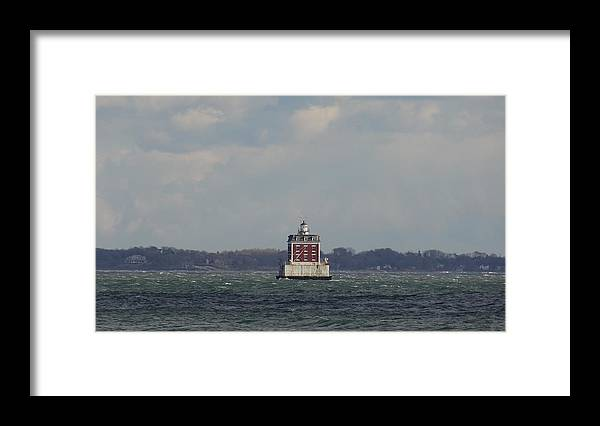 New London Framed Print featuring the photograph Ledge Light by Jessica Cruz