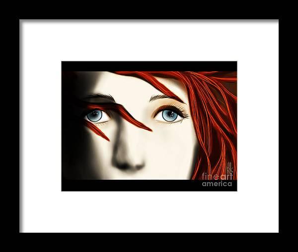 Leeloo Framed Print featuring the digital art Leeloo by J Kinion