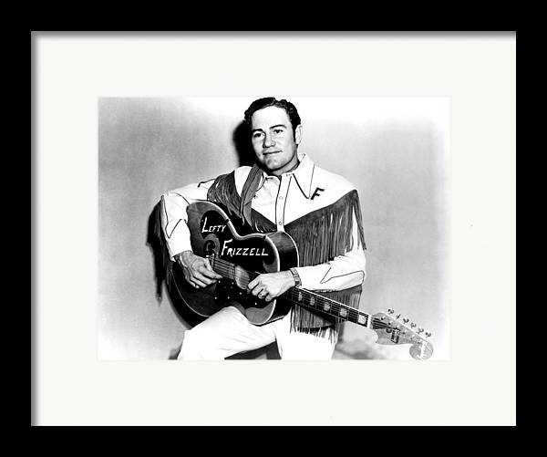 1950s Portraits Framed Print featuring the photograph Lefty Frizzell, 1950s by Everett
