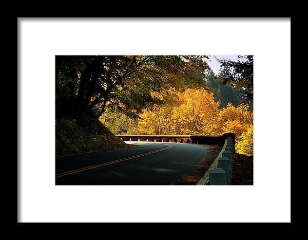 Fall Framed Print featuring the photograph Leisurely Drive by Jon Ares
