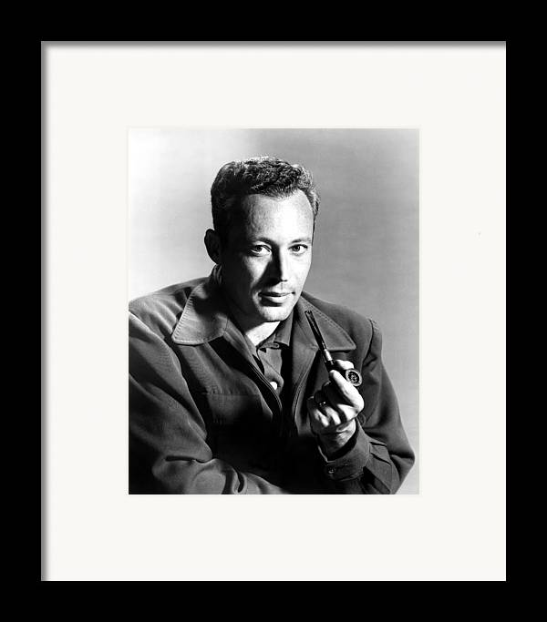 1950s Portraits Framed Print featuring the photograph Leon Uris, Circa Mid-1950s by Everett