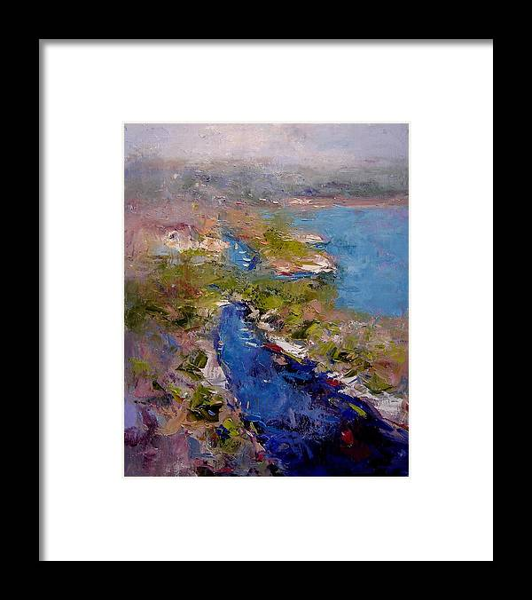 Les Calanques Framed Print featuring the painting Les Calanques In Morning by R W Goetting