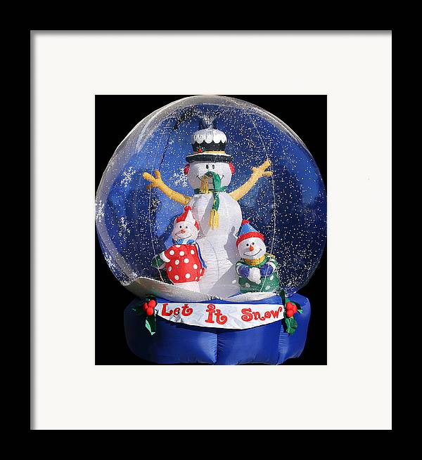 Weird Framed Print featuring the photograph Let It Snow by Christine Till