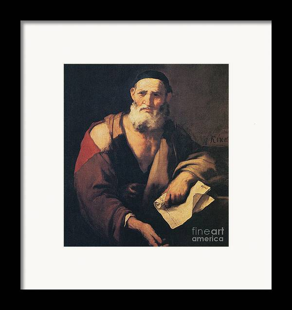 Science Framed Print featuring the photograph Leucippus, Ancient Greek Philosopher by Science Source