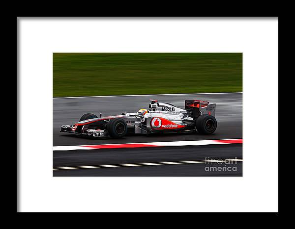 Lewis Hamilton Framed Print featuring the photograph Lewis Hamilton Silverstone 2011 by David Smith