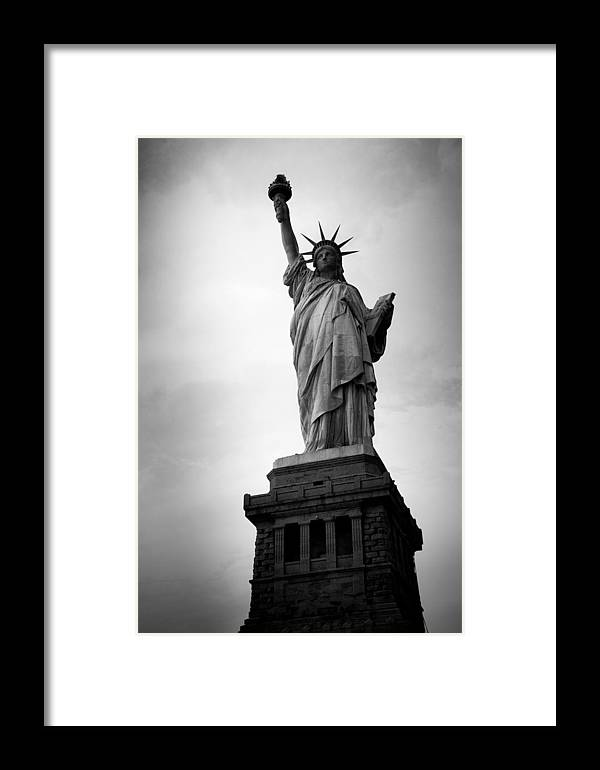Statue Of Liberty Framed Print featuring the photograph Liberty Island by Heidi Reyher