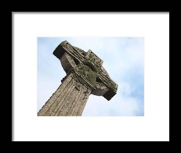 Cross Framed Print featuring the photograph Lichen Cross by Christopher Mercer