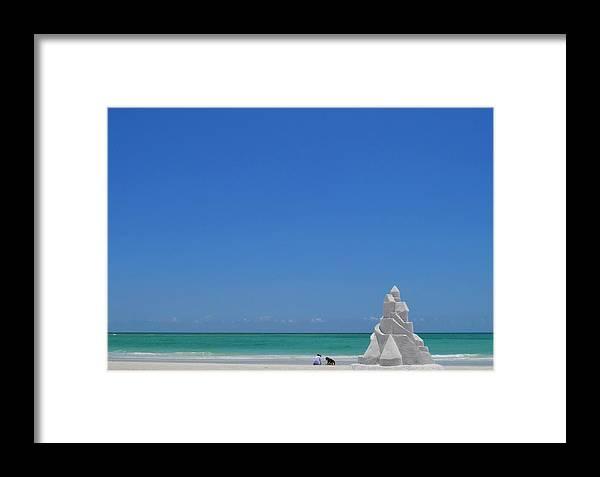 Lido Beach Framed Print featuring the photograph Lido Beach by Gwen C