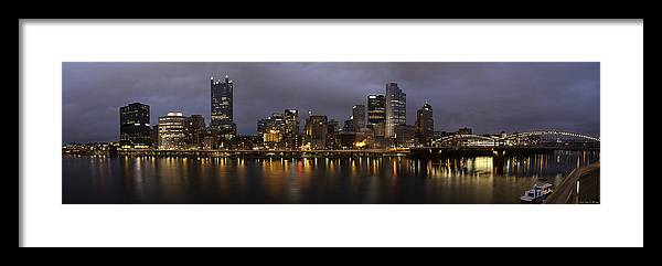 Pittsburgh Framed Print featuring the photograph Life By The River by Kevin E McCaslin