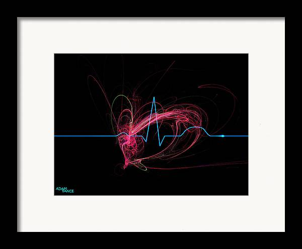 Heart Framed Print featuring the drawing Life Signs by Adam Vance
