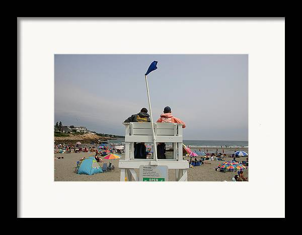 North America Framed Print featuring the photograph Lifeguards Watch Over The Traditional by Stephen St. John