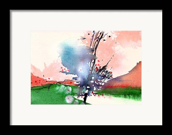 Landscape Framed Print featuring the painting Light 2 by Anil Nene