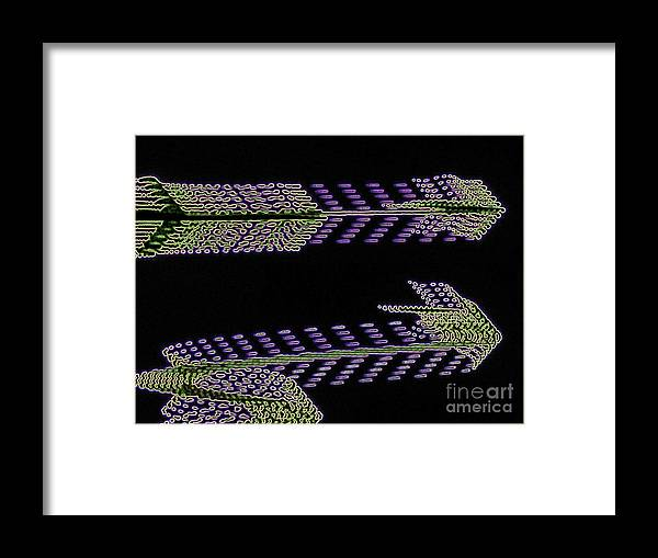 Abstract Framed Print featuring the digital art Light Arrows by Rrrose Pix