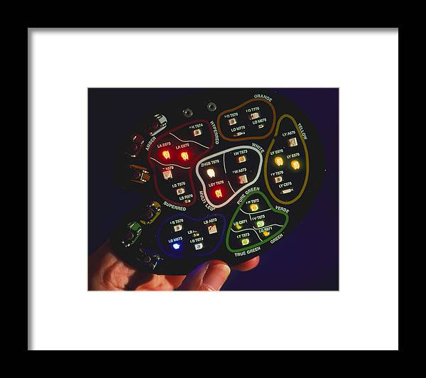 Led Framed Print featuring the photograph Light-emitting Diodes by Volker Stegersiemens
