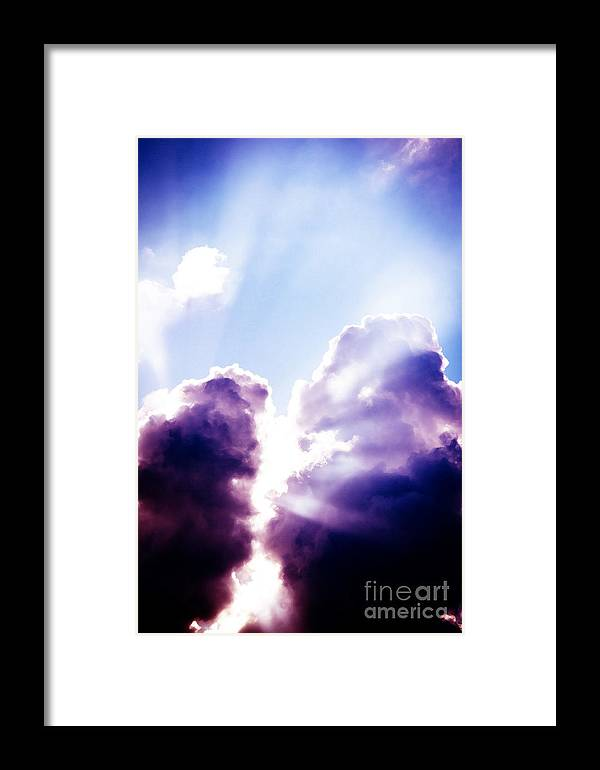 Light Framed Print featuring the digital art Light From Above by Philip Payne
