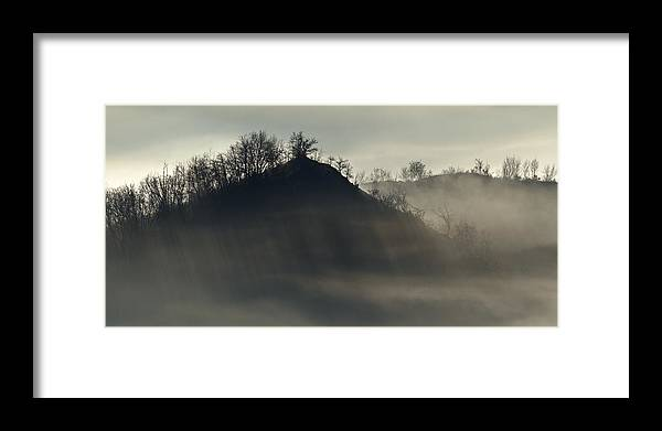 Mountain Framed Print featuring the photograph Light In Mountain Fog by Michele Pietrangelo