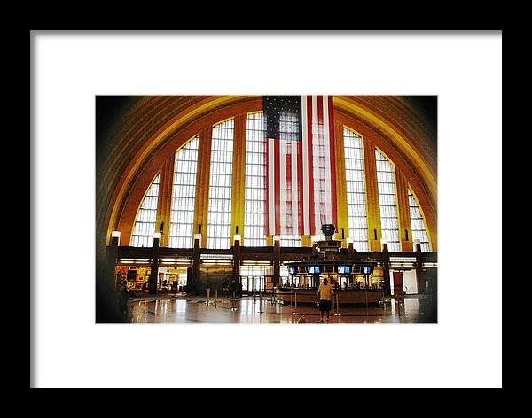 Cincinnati Framed Print featuring the photograph Light Show In Time by Sgt Donald Lee Handley
