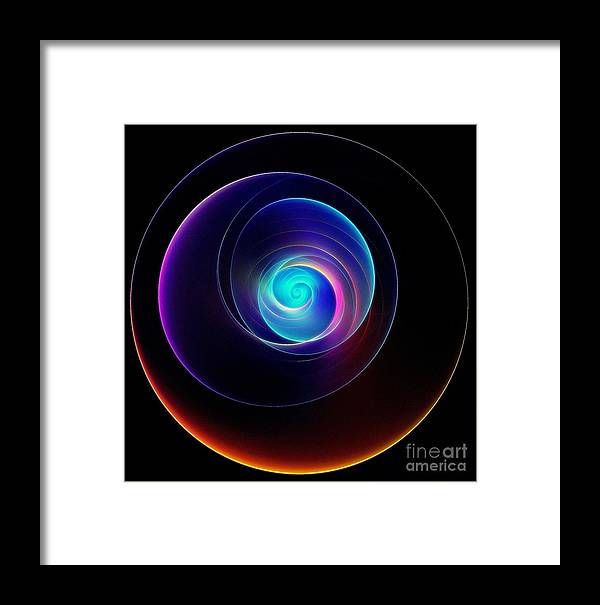 Light Show Framed Print featuring the digital art Light Show by Klara Acel