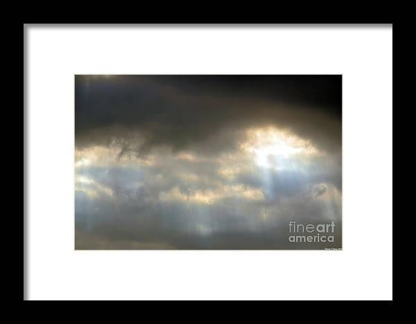 Light Streaks Framed Print featuring the photograph Light Streaks by Maria Urso