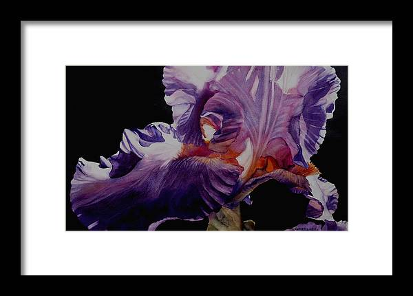 Watercolor Framed Print featuring the painting Light Within by June Rollins
