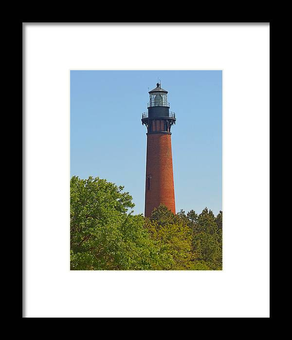 Lighthouse Framed Print featuring the photograph Lighthouse At Corolla N C by J D Whaley