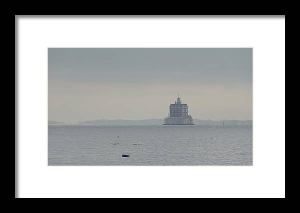 Lighthouse Framed Print featuring the photograph Lighthouse in the Mist by Jessica Cruz