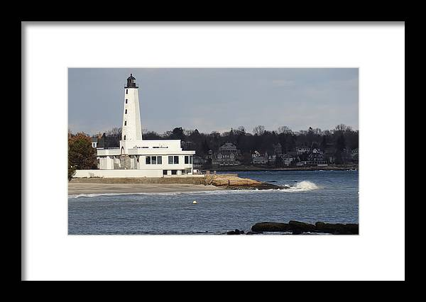 Harbor Lighthouse Framed Print featuring the photograph Lighthouse by Jessica Cruz