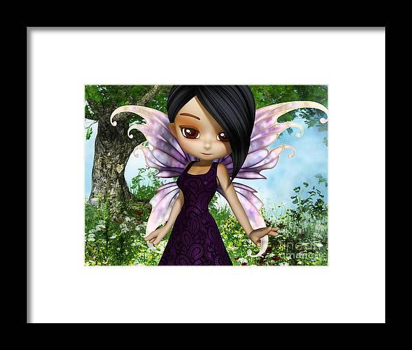 3d Framed Print featuring the digital art Lil Fairy Princess by Alexander Butler