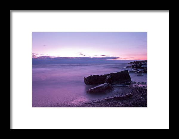 Beach Framed Print featuring the photograph Lilac Beach by Christoffer Rathjen